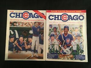 Vintage 1987 & 1988  Chicago Cubs Program/Scorecard Andre Dawson, Ryne Sandberg