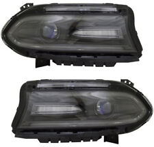 DODGE CHARGER 2016-2018 LEFT RIGHT HALOGEN HEADLIGHTS HEAD LIGHTS LAMPS PAIR