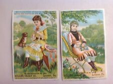 Two Different Miller Organ Co. Trade Cards, Lebanon, Penna.