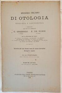 OTORINO LARINGOIATRIA INTORNO A UNA FORMA RARA NEURO CHERATITE NASALE NASO 1896