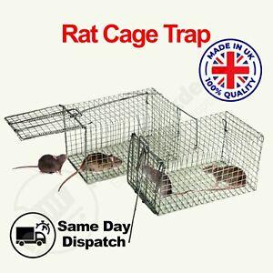Mouse Trap Humane Live Catcher Rat Vermin Rodent Cage Metal Traps Pest Mice Bait