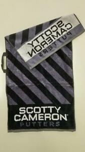 Scotty Cameron Limited Club Towel Caution Stripe Black Gray Golf