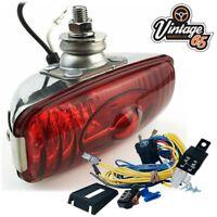 Classic Car 12V Stainless Steel Chrome Rear Foglight Fog Lamp Wiring Kit & Relay