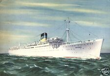 16301/ Künstler AK, Greek Line Dampfer Neptunia, Luftpost, 1957