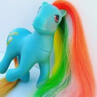 G1 MLP Twisty Tail Brush N Grow 80s 1987 Rare My Little Pony Hasbro Rainbow
