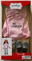 Penelope And Friends 5 Piece Outfit Coat Hat and Scarf Fits Most 18 Inch Dolls