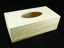PLAIN LEGNO Rettangolo tessuto casella Home Decor DECOUPAGE