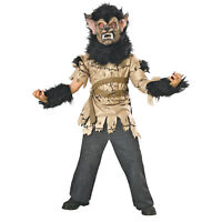 Boy's Rabid Wolf Werewolf Halloween Classics Costume + Furry Mask Child S 4-6