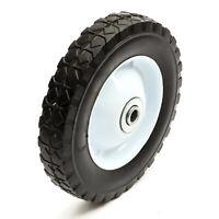 "8 x 1.5 Inch Lawnmower Steel Wheel & Solid PU Tyre 8"" Diamond Tread Mower 8x1.5"