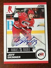 2010-11 Score Jeff Skinner Rookies & Traded Autograph Rare Auto