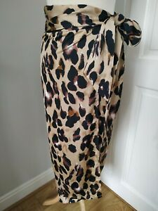 Never Fully Dressed Leopard Print Jaspre Wrap Skirt Sold out S Superb Cond