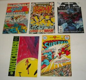 LOT 5 LOW GRADE KEY DC COMICS 52 WEEK 11 ALL STAR 58 WATCHMEN 1 SUPERMAN 276