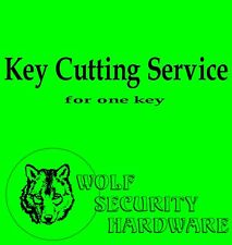 Key Cutting Service-Purchase After Pre Approval & In Conjunction W/Key Purchase