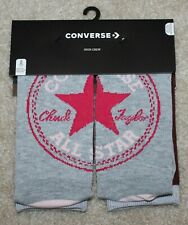 New! Girls Converse 2 Pack Socks (High Crew Cut; Fit Shoe 5Y-7Y) Sock Size 9-11