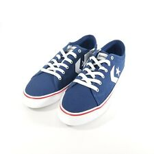 Converse Star Replay OX Shoes Men Size 9 Blue/White/Red 163215C