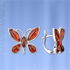 Russische Silberschmuck 925 Ohrringe aus Silber mit Bernstein SO41153