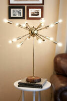 Mid Century Sputnik style table light lamp with 16 bulbs. Sputnik Table Lamp