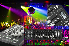 MIXER CENTRALINA LUCI DMX CONTROLLER FARI LED FESTE MOBILI STROBO 192 CANALI