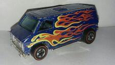 1974 original redline Hot Wheels Super Van Blue Flame rare Hong Kong hw car