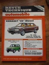 RTA Revue technique automobile #475 Renault 25 Diesel et turbo diesel