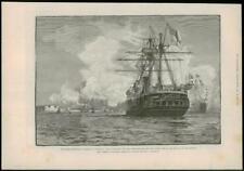 1888-antica stampa Liverpool NAVALE HMS INVINCIBILE HMS HERCULES (026)