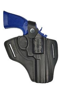 R4 Leder Revolver Holster für Steel Cop 3 mit 4 Zoll Lauf schwarz NEU VlaMiTex