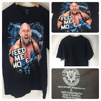 WWE Wrestling The Big Guy Ryback Feed Me More Black T Shirt Size Large