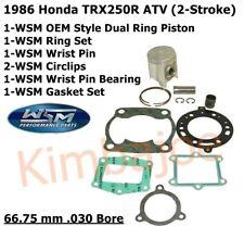 HONDA ATC250R TRX250R 85-86 WISECO TOP END KIT PISTON BEARING GASKET 66MM PK1073