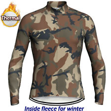 Cycling Jersey Thermal MTB Motocross Bike Jacket Mountain Road Bike Fleece Shirt