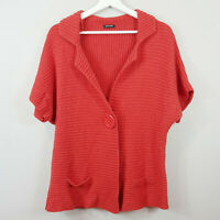 [ GERRY WEBER ] Womens Red Knit Cardigan Top | Size AU 16