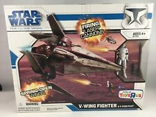 STAR WARS CLONE WARS V-WING FIGHTER + PILOT BOX SET TOYS R US EXCLUSIVE MIB 2009