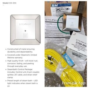 Steamist 120-BN SM SERIES CONTROL FOR STEAM SHOWER (manuf. Discontinued) 3199-BN