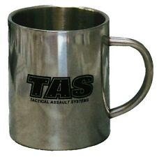 TAS DOUBLE WALLED MUG 450ML STAINLESS STEEL INSULATED KEEP DRINKS HOT FOR LONGER