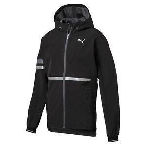 Puma Mens LastLap Warm Up Running Jacket Lightweight Reflective Hooded Full Zip
