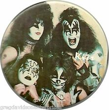 Kiss Destroyer Era Button Pin Gene Simmons Paul Stanley Ace Frehley Peter Criss
