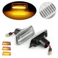 1 Pair Dynamic LED Side Indicator Light For Opel Insignia Astra H Zafira B Corsa