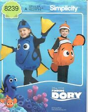 SEWING PATTERN! MAKE FINDING DORY~NEMO COSTUMES! HALLOWEEN! BOY~GIRL SIZE 1/2~4