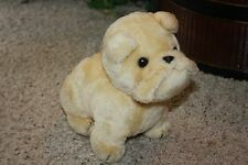 "VTG Plush DAKIN 1978 BULLDOG Puppy Dog Light Tan 9"" Korea  #P2"