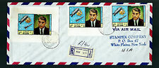 """EXTREMELY RARE UAE 1969 RAS AL KHAIMA SPACE """"IMPERF"""" S/SHEET + STAMPS POSTALY US"""