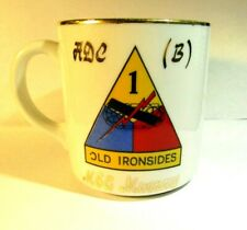 1950S OLD IRONSIDES 1ST ARMORED DIVISION COFFEE MUG GERMANY MURRAY W/SILVER STAR