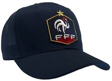 France Football Hat FFF French World Cup Ball Cap DARK BLUE MESH BACK