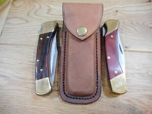 Custom Distressed Brown leather sheath for Buck 110 or Schrade LB7