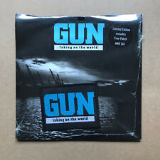 """GUN TAKING ON THE WORLD(PATCH) 7"""" Still sealed with patch - 1990 with don't beli"""