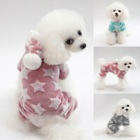 Small Puppy Dog Winter Warm Fleece Clothes Hooded Coat Jumpsuit Romper A12CA