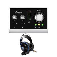 Audient ID14 High Performance USB Desktop Audio Interface + PreSonus Headphones