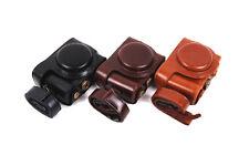 Leather Camera Bag Cover Case Strap For Sony Cyber-shot DSC-HX50 HX50V HX60 HX30