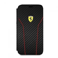 Funda Oficial Ferrari CARBON para Apple iPhone X negro