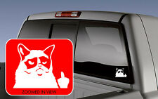 Grumpy Cat giving the finger Car sexy Decal Sticker laptop funny vinyl