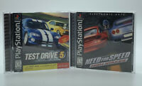 Test Drive 5 & Need For Speed High Stakes Racing Playstation 1 Video Game PS1