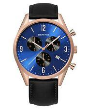 Bering Herren Uhr Armbanduhr Chronograph - 10542-567-1 Leder